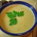 <b>Суп-пюре из картофеля с яйцами в кляре</b>